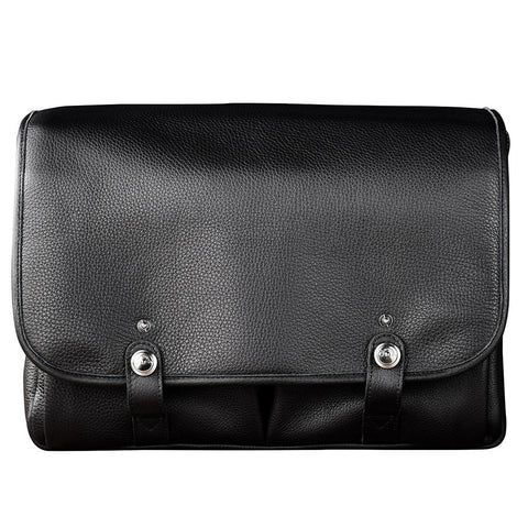 Oberwerth William Large Leather Camera/Business Bag, Black