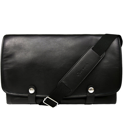 Oberwerth Boulevard 15 - Leather Camera Bag, Black with Red Lining