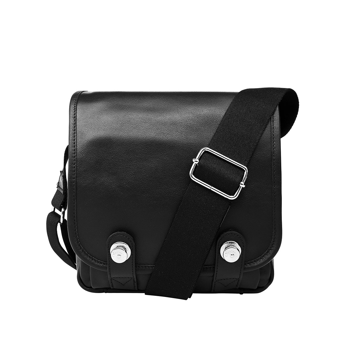 Oberwerth Boulevard Compact - Leather Camera Bag, Black with Red Lining