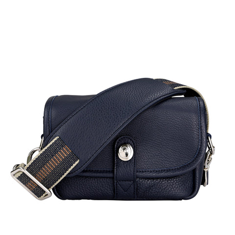 Oberwerth Charlie Extra Small Leather Camera Bag & Insert, Navy Blue