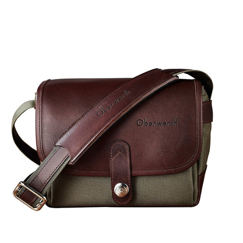 Oberwerth Frankfurt Small Photo Bag - Cordura/Leather - Olive/Dark Brown