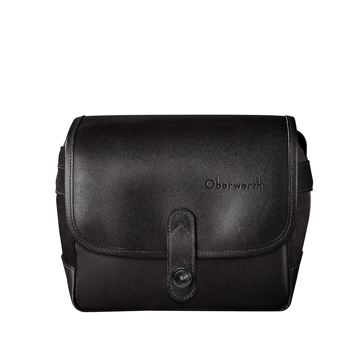 Oberwerth Frankfurt Small Leather Photo Bag - 'Stealth' Edition - Black with Red Lining