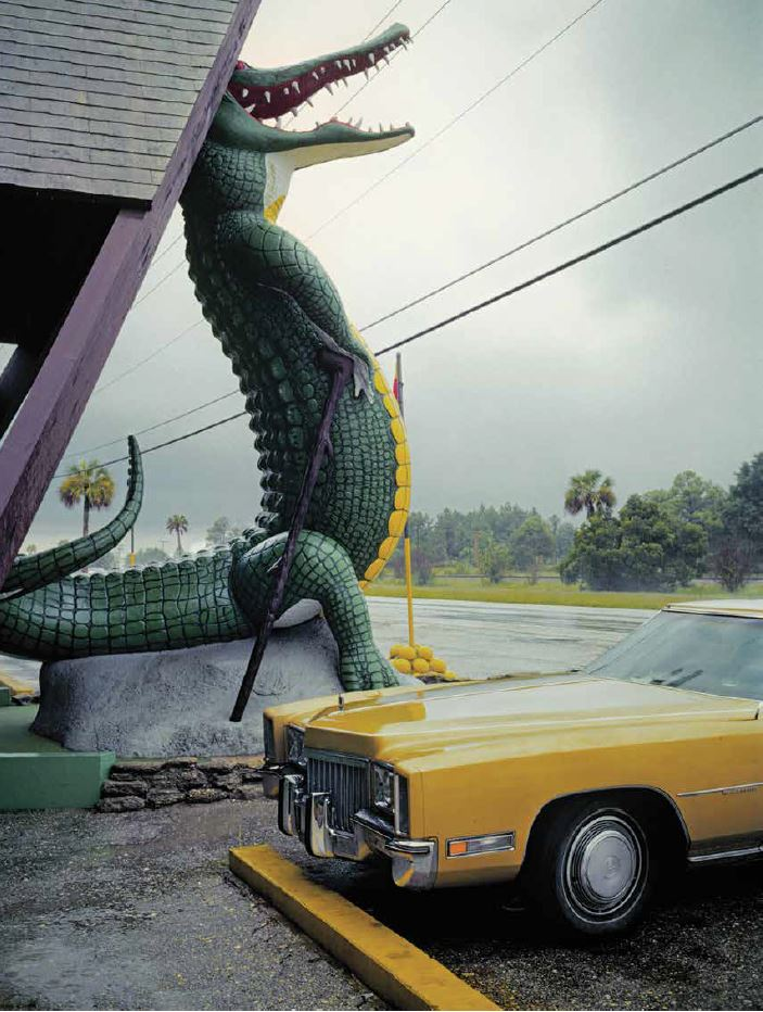 Nathan Benn - Editioned Print -  Alligator Parking, St. Augustine, FL 1981