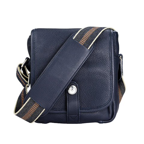 Oberwerth George Small Leather Camera Bag, Dark Blue
