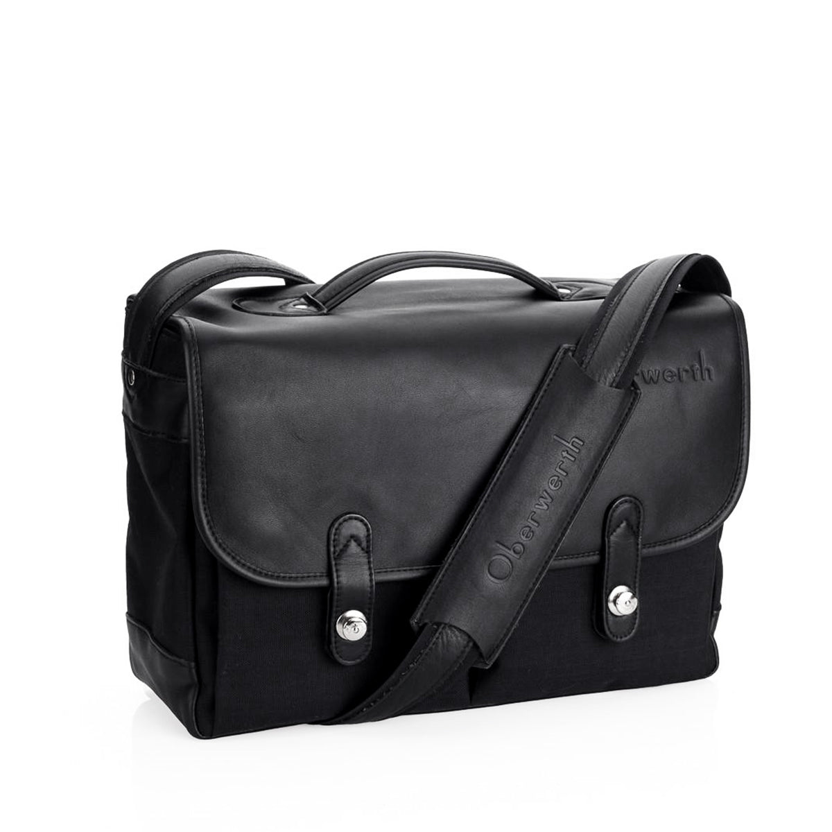 Oberwerth München Large Photo Bag - Cordura/Leather -  Black/Black