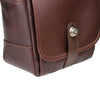 Oberwerth Nürnberg Small Leather Photo Bag - Dark Brown with Red Lining