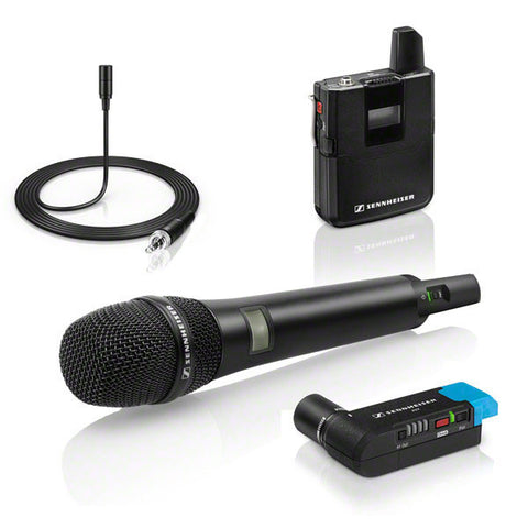 Sennheiser AVX-Combo Set - Handheld Mic with MD42 capsule, Bodypack transmitter, ME2 lav mic and EKP plug-on receiver