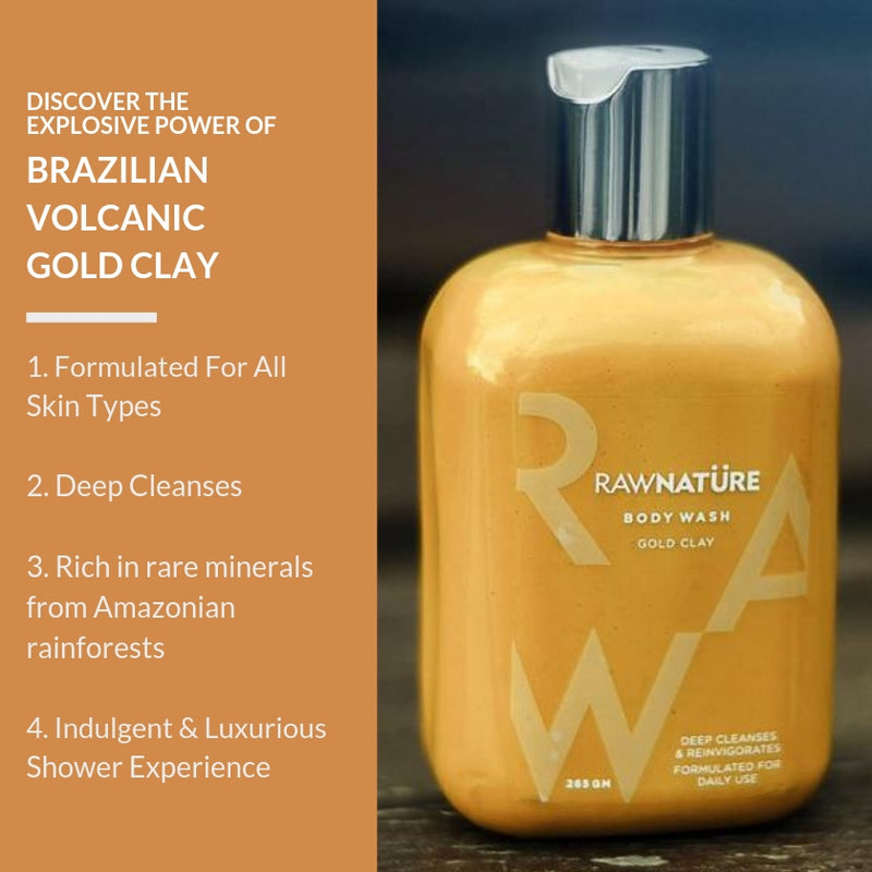 Volcanic Gold clay Body Wash