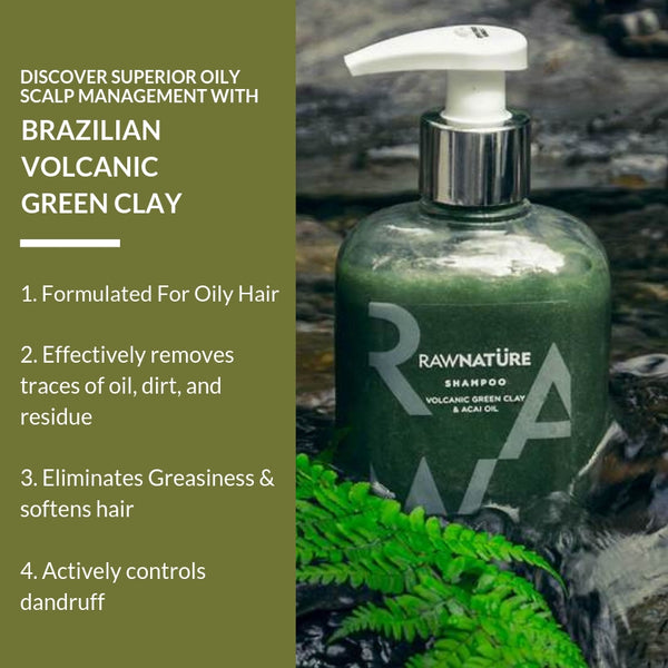Volcanic Green Clay and Acai Oil Shampoo