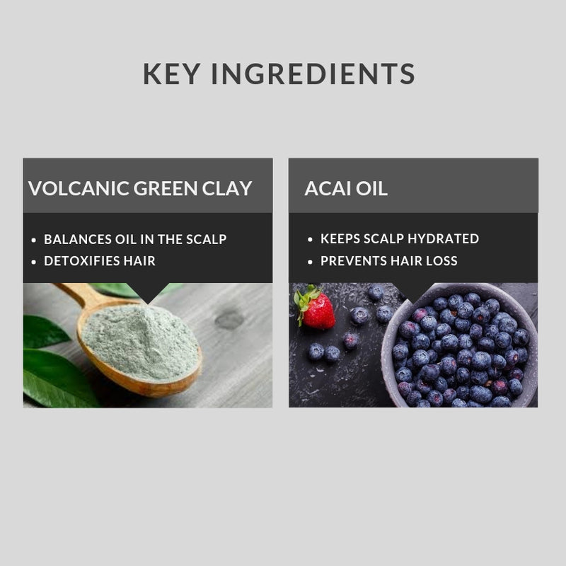 Buy One Volcanic Green Clay & Acai Oil Shampoo (250 Ml) And Get Another 2 Free (Expires in June 2021)