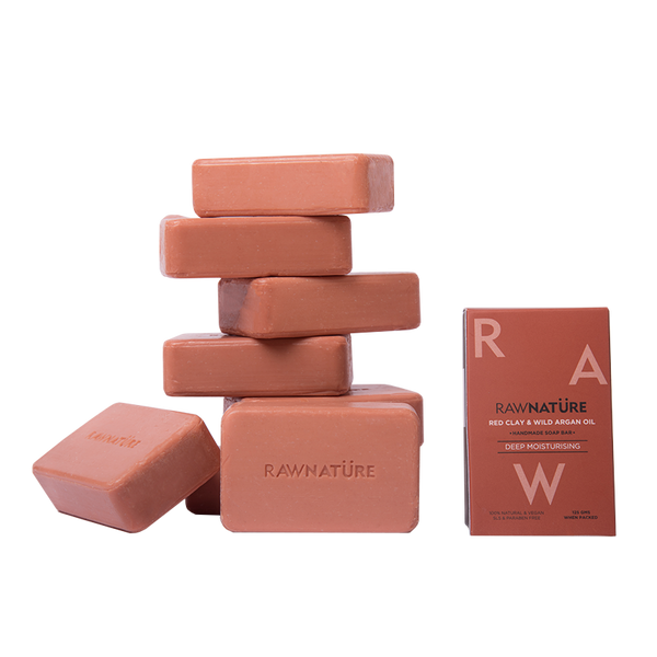 RED CLAY & WILD ARGAN OIL SOAPS SET OF 3