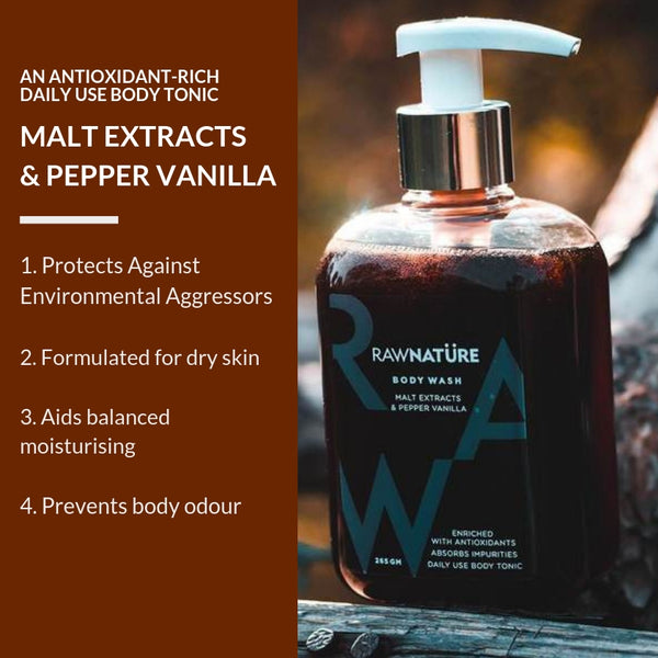 Malt Extracts & Pepper Vanilla  Body Wash (Best Before Nov 2020)
