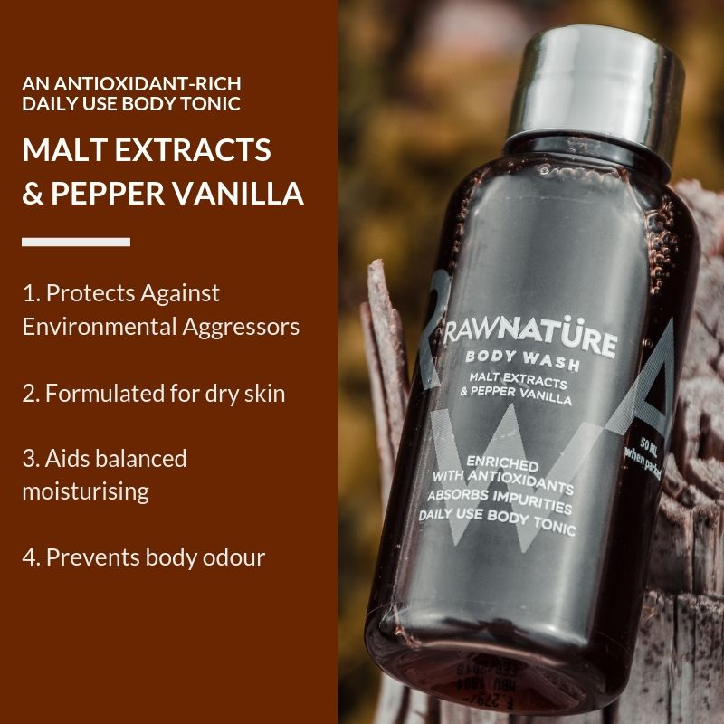 Malt Extracts & Pepper Vanilla Body Wash (200 Ml)