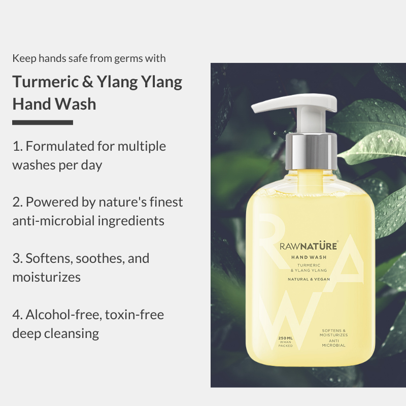 Buy Turmeric & Ylang Ylang Hand Wash And Get Another Hand Wash & Sanitizer Free
