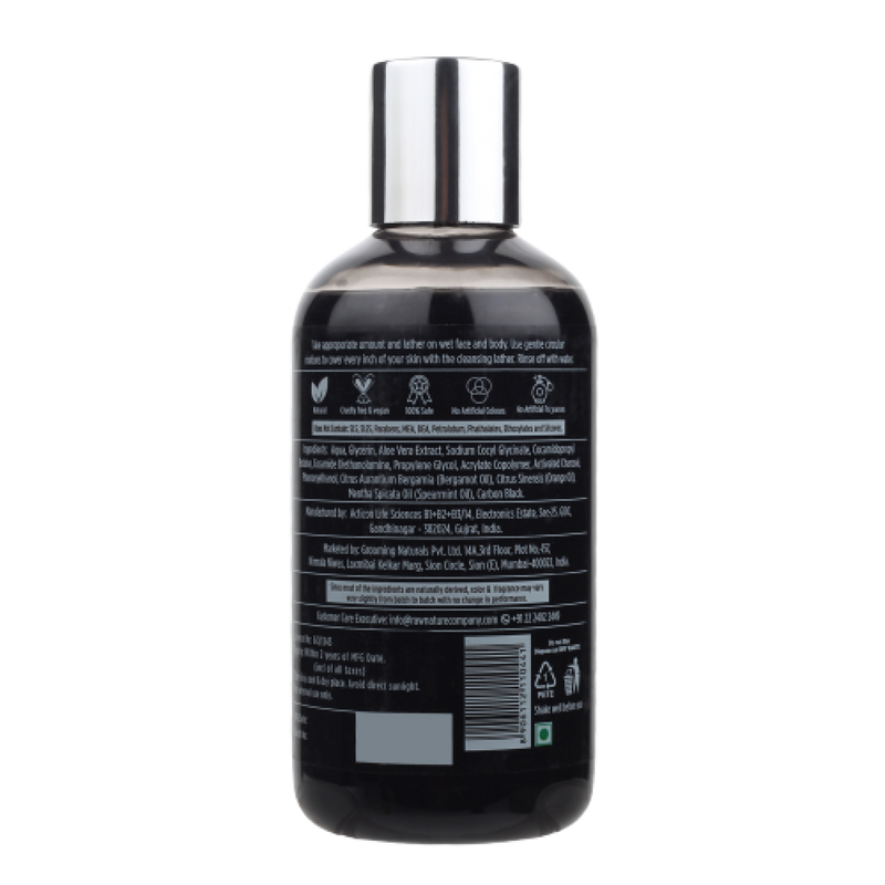 Activated Charcoal Face & Body Wash (210 Gm)