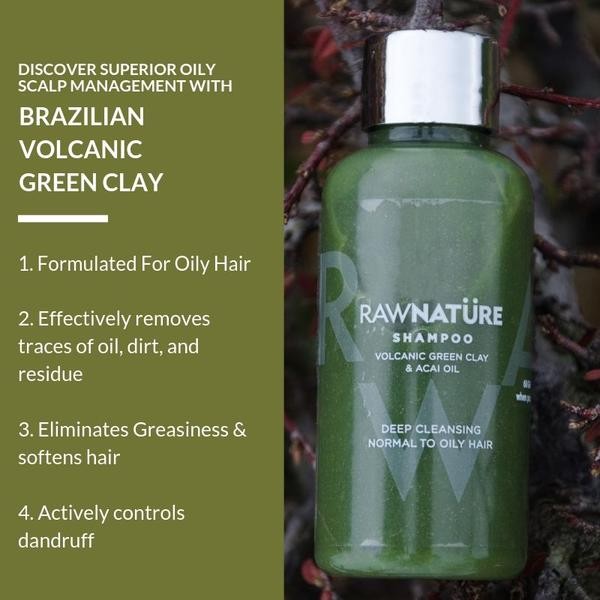 Volcanic Green Clay & Acai Oil Shampoo (210 Gm)
