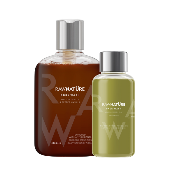 Buy Malt Extracts & Pepper Vanilla Body Wash And Get Face Wash Green Clay Worth Rs. 349 FREE