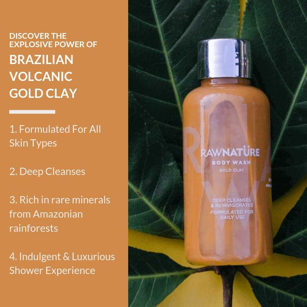 Volcanic Gold Clay (210 Gm) Body Wash (Best Before Dec 2020)