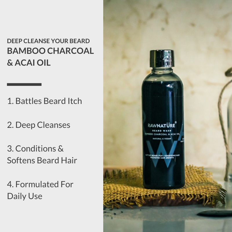 Bamboo Charcoal & Acai Oil Beard Wash (100 Gm) (Best Before Oct 2020)
