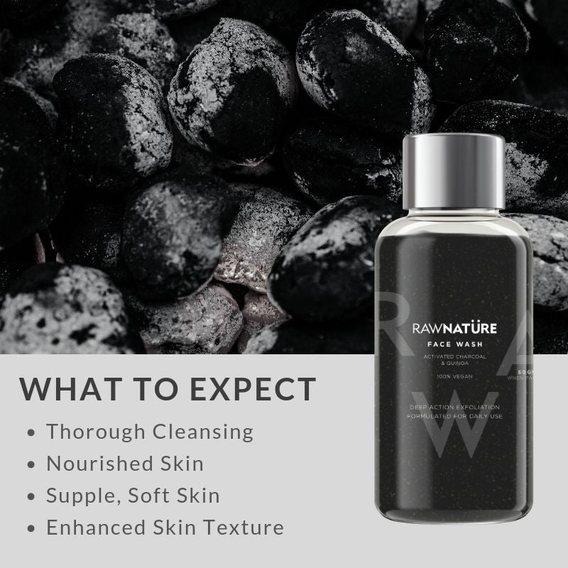 Activated Charcoal & Quinoa Face Wash (100 Gm)