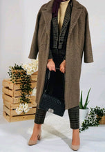 Load image into Gallery viewer, Brown Single Buttoned Teddy Coat