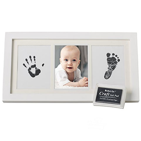 Baby Hand print Kit & Footprint Photo Frame for Newborn