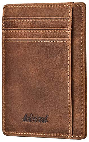 RFID Minimalist Slim Leather Wallet