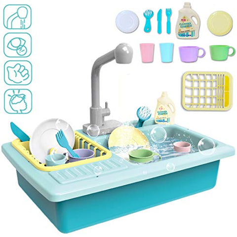Children's Kitchen Sink Play Set