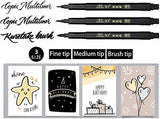 Calligraphy Pen Set for Beginners (6 Brush Pens)