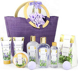 Premium 10pc Bath Gift Sets in Handmade Tote Bag