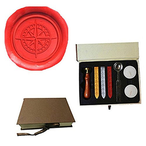 Vintage Star Cross Compass Wax Seal