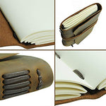 Handmade Rustic Leather Pen, Writing Notebook and Bookmark