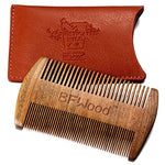 Beard & Moustache Pocket Comb - Sandalwood