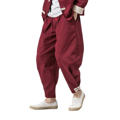 Mens Harem Trousers / Sweatpants / Joggers Chinese style