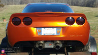 Robert's Chevrolet Corvette C6 from North Carolina with California Super Coupes rear spoiler.