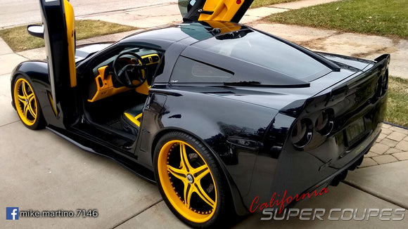 Check out Mike's Chevrolet Corvette C6 featuring USA made products from Vertical Doors, Inc. and California Super Coupes.