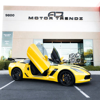 AZ Motor Trendz | Peoria, AZ | Chevrolet Corvette C7 with Vertical Lambo Doors Conversion Kit and other upgrades