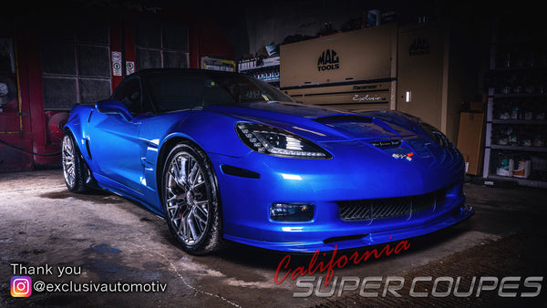 California Super Coupes Chevrolet Corvette C6 Super Widebody Conversion installed by Exclusiv automotiv