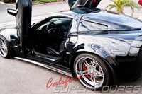 Side Skirts Wide Style for Chevrolet Corvette C6 Z06, ZR1, Grand Sport, by CSC