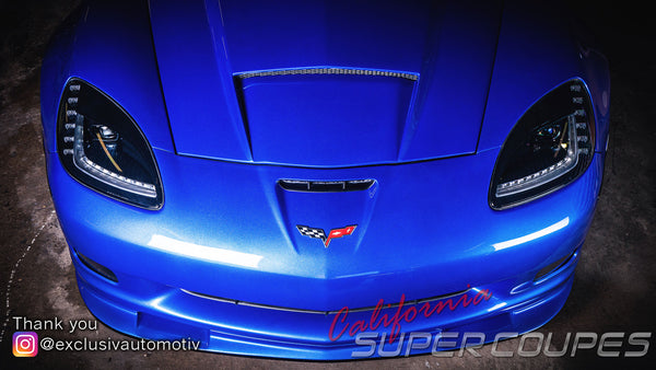 Front Fenders ZLR Super Wide ZR1 Style  w/ Liners for Chevrolet Corvette C6 by CSC