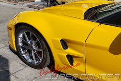 Front Fenders ZLR Wide ZR1 Style w/ Liners for Chevrolet Corvette C6 by CSC