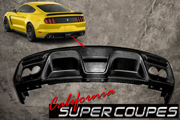 Carbon Fiber GT350 Rear Diffuser Ford Mustang Shelby 2015-2018