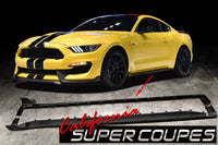 Carbon Fiber GT350 Side Skirts Ford Mustang Shelby 2015-2018