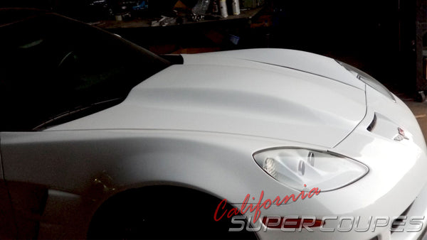 Super Charger Hood for Chevrolet Corvette C6 by CSC (New Version; Vacuum Mold)