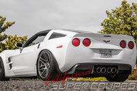 Exhaust Diffuser V2 (Use with stock 4 Exhaust Tips) for Chevrolet Corvette C6 by CSC