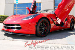 Front Splitter for Chevrolet Corvette C7 2014-2019 in Carbon Fiber and Fiberglass