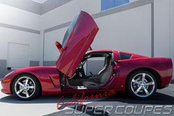 Window Rails for Chevrolet Corvette C6 by CSC (New Version; Vacuum Mold)