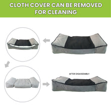 Load image into Gallery viewer, Hiputee Luxurious Flat Dual Colour Bed for Dogs and Cats with Removable Cover