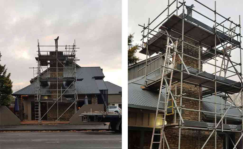 Hanmer Springs - Scaffold For Chimney Repair