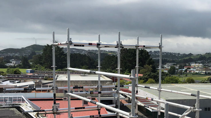 Scaffold For Porirua Roof Access